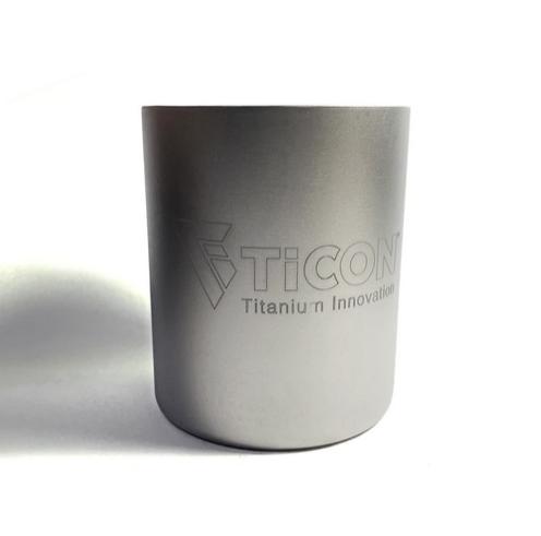 TICON - Tasse doppelwandig aus Titan