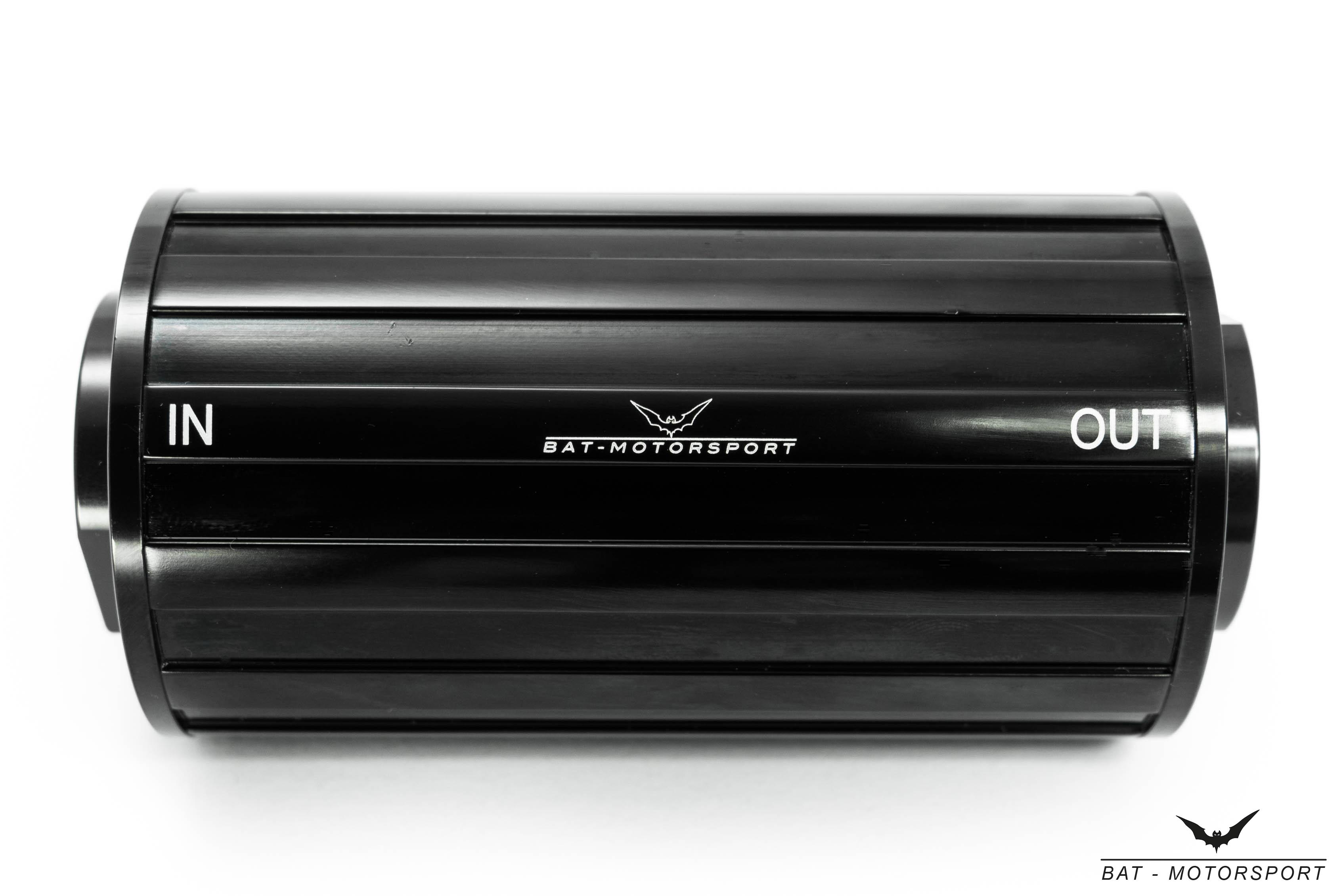 70mm Highflow Benzinfilter Universal Kraftstofffilter Dash 8 3//4-16UNF schwarz